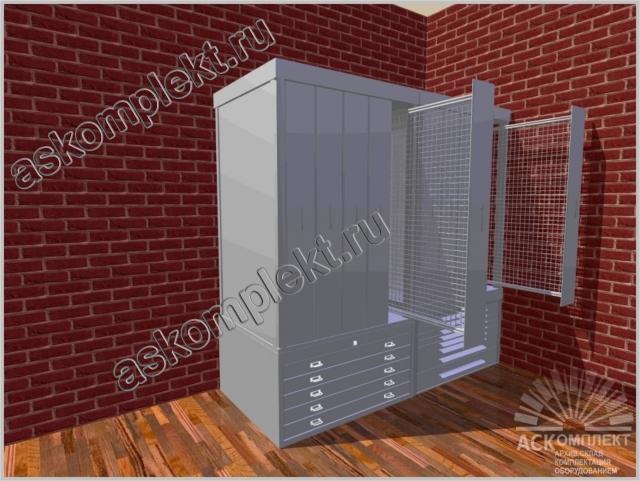 Шкаф для картин с закрытыми дверцами комбинированный