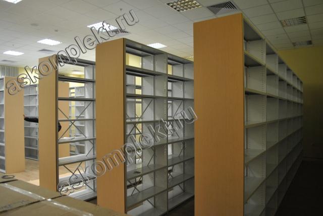 Металлические разборные стеллажи для библиотеки